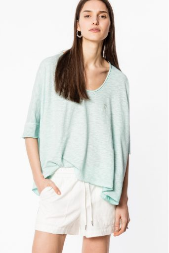 T shirt Costa Cold Dyed t shirt femme Zadig Voltaire
