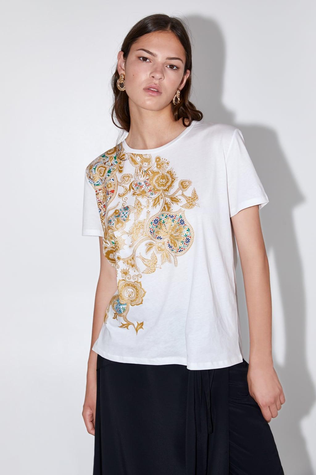 zara baroque tshirt
