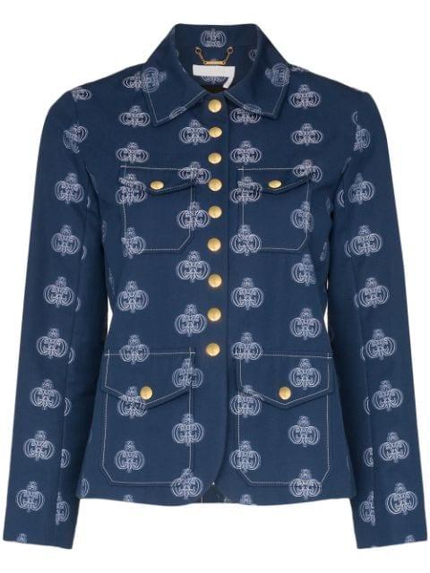chloé logo jacket