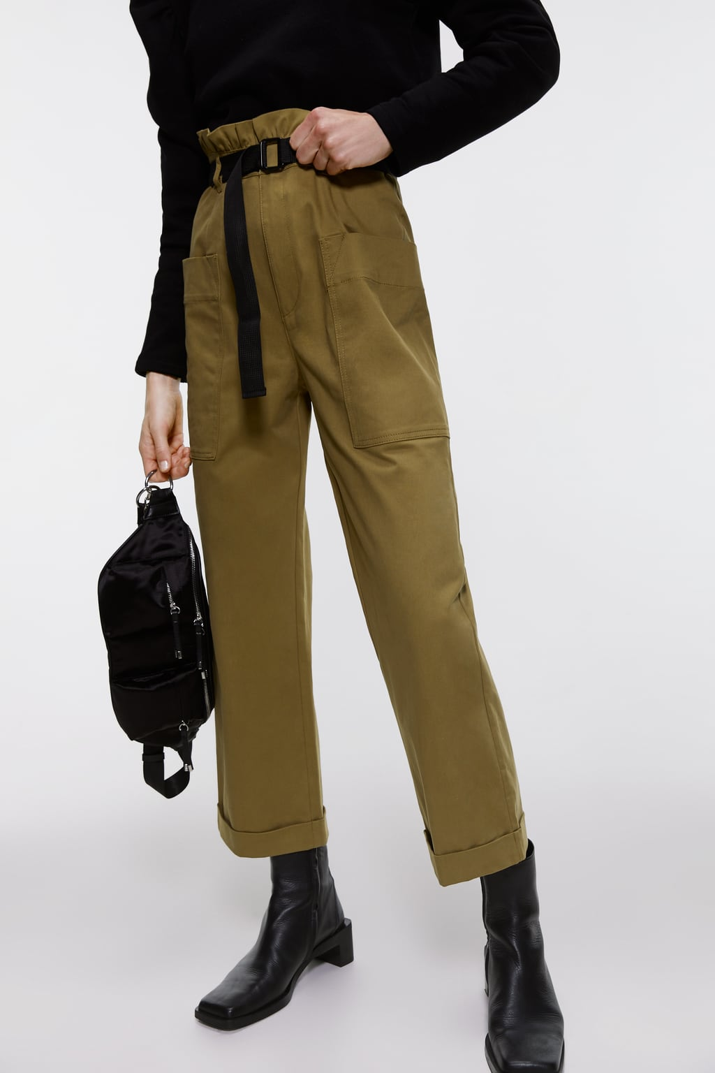 ZARA_ pantalon ceinturé