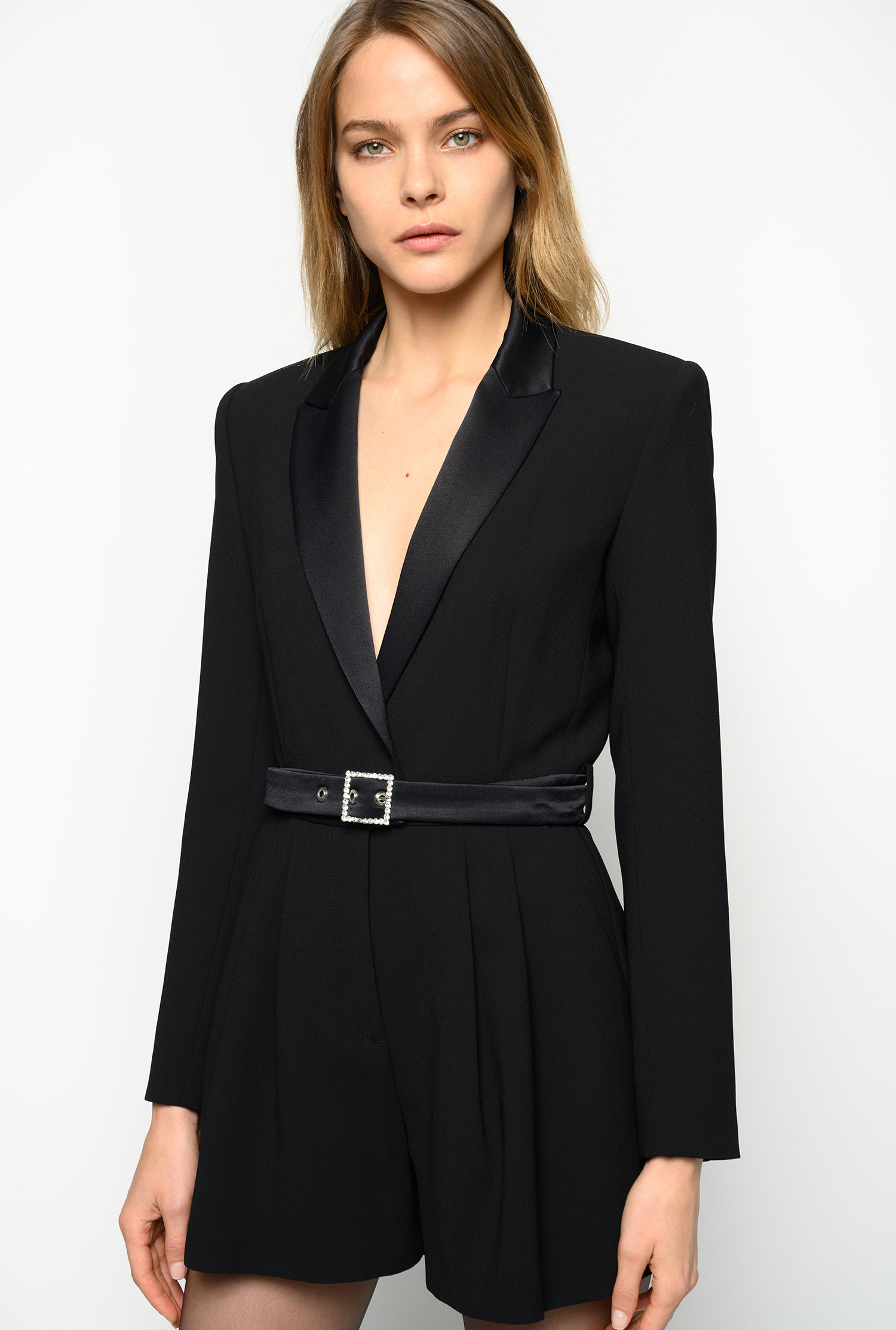 pinko belted jumpsuit