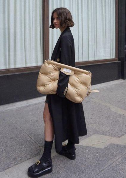 puffer bag streetstyle
